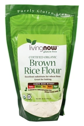 DROPPED: NOW Foods - Brown Rice Flour Organic - 16 oz.