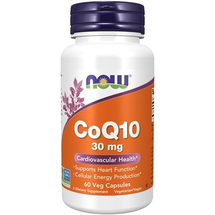 NOW Foods - CoQ10 Cardiovascular Health 30 mg. - 60 Vegetarian Capsules