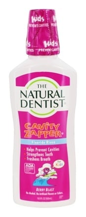 Natural Dentist - Cavity Zapper Fluoride Rinse Berry Blast Flavor - 16.9 oz. Formerly Healthy Teeth Natural Fluoride Rinse for Brace