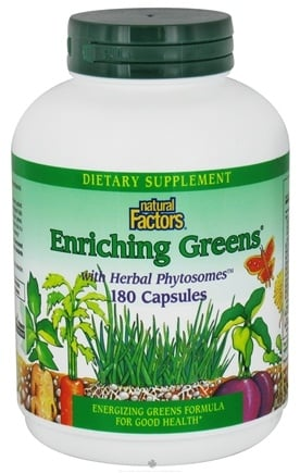 DROPPED: Natural Factors - Enriching Greens with Herbal Phytosomes - 180 Capsules