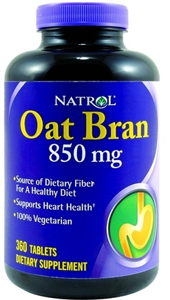 DROPPED: Natrol - Oat Bran 850 mg. - 360 Tablets