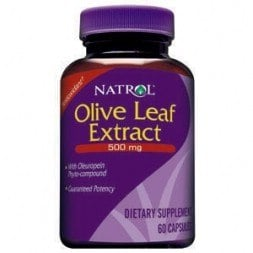 DROPPED: Natrol - Olive Leaf Extract 500 mg. - 60 Capsules CLEARANCE PRICED