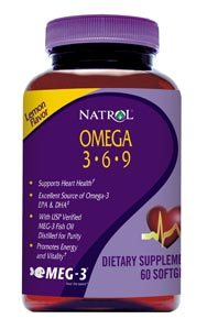 DROPPED: Natrol - Omega 3-6-9 Lemon Flavor - 60 Softgels