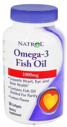 DROPPED: Natrol - Omega-3 Fish Oil Lemon Flavor 1000 mg. - 60 Softgels CLEARANCE PRICED