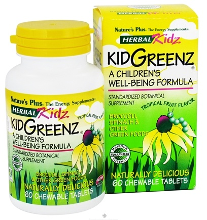 DROPPED: Nature's Plus - Herbal Kidz Kidgreenz - 60 Chewable Tablets
