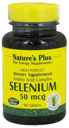 DROPPED: Nature's Plus - Selenium 50 mcg. - 90 Tablets CLEARANCE PRICED
