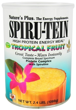 Nature's Plus - Spiru-Tein High Protein Energy Meal Tropical Fruit - 2.4 lbs.