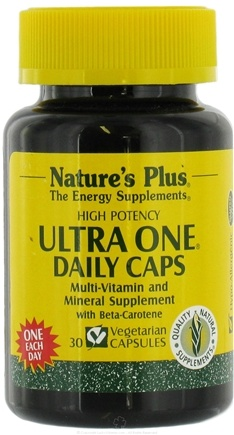 DROPPED: Nature's Plus - Ultra-One Daily Caps - 30 Vegetarian Capsules
