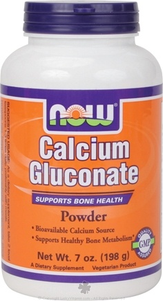 DROPPED: NOW Foods - Calcium Gluconate Powder - 7 oz.