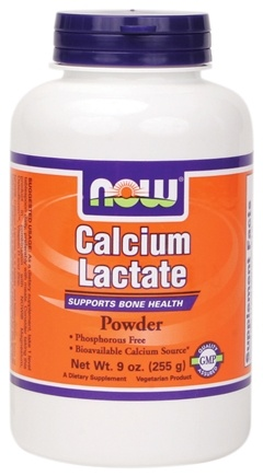 DROPPED: NOW Foods - Calcium Lactate Powder - 9 oz.