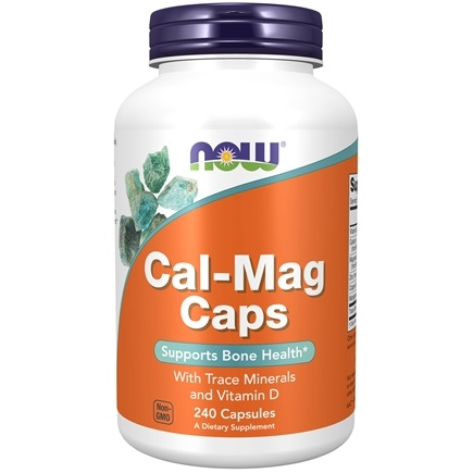 NOW Foods - Calcium-Magnesium with Trace Minerals and Vitamin D - 240 Capsules