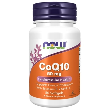 DROPPED: NOW Foods - CoQ10 Cardiovascular Health with Selenium and Vitamin E 50 mg. - 50 Softgels
