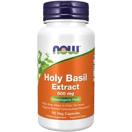 NOW Foods - Holy Basil Extract - 90 Vegetarian Capsules