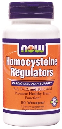 DROPPED: NOW Foods - Homocysteine Regulators - 90 Vegetarian Capsules