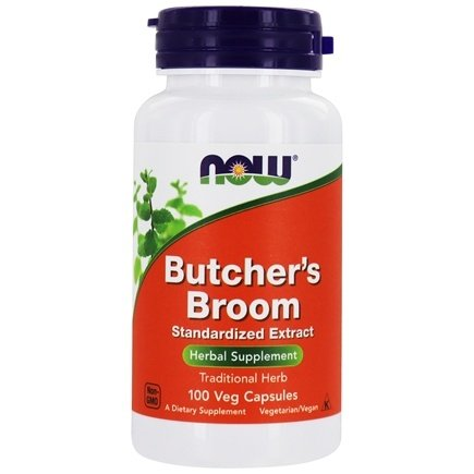 NOW Foods - Butcher's Broom 200 mg. - 100 Capsules