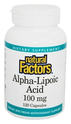 Natural Factors - Alpha-Lipoic Acid 100 mg. - 120 Capsules