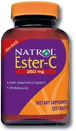 DROPPED: Natrol - Ester C with Bioflavonoids 250 mg. - 225 Tablets