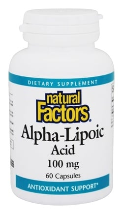 DROPPED: Natural Factors - Alpha-Lipoic Acid 100 mg. - 60 Capsules CLEARANCE PRICED
