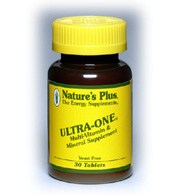 DROPPED: Nature's Plus - Ultra-One Multi Vitamin and Mineral Supplement - 180 Tablets