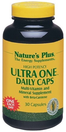 DROPPED: Nature's Plus - Ultra-One Multi Vitamin and Mineral Supplement - 30 Tablets