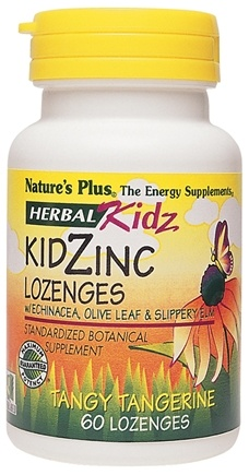 DROPPED: Nature's Plus - Herbal Kidz Kidzinc Lozenges - 60 Chewable Tablets