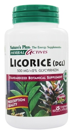 Nature's Plus - Herbal Actives Licorice (DGL) 500 mg. - 60 Vegetarian Capsules