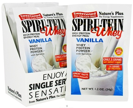DROPPED: Nature's Plus - Spiru-Tein WHEY High Protein Energy Meal Vanilla - 1 Packet CLEARANCE PRICED