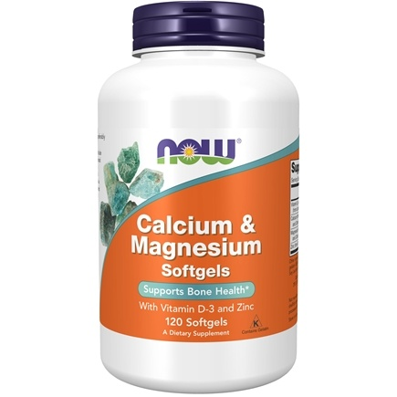 NOW Foods - Calcium-Magnesium with Vitamin D and Zinc - 120 Softgels