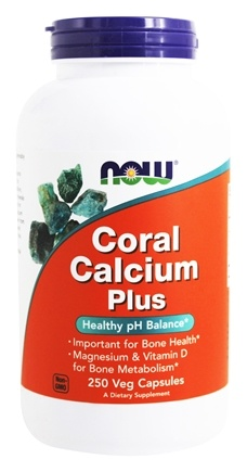 NOW Foods - Coral Calcium Plus - 250 Vegetarian Capsules