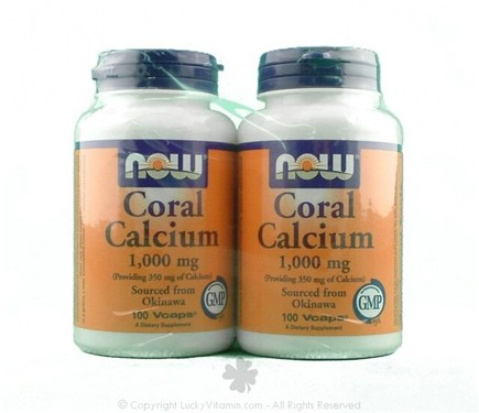 DROPPED: NOW Foods - Coral Calcium Twin Pack Special 1000 mg. - 200 Vegetarian Capsules