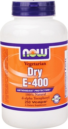DROPPED: NOW Foods - Dry E-400 d-alpha Tocopheryl - 250 Vegetarian Capsules
