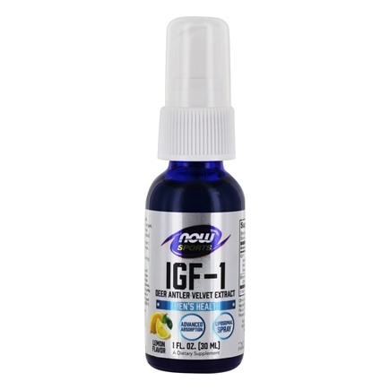 NOW Foods - IGF-1 Plus Lipospray Deer Antler Velvet Extract - 1 oz.