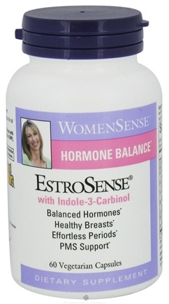 Natural Factors - EstroSense WomenSense Hormonal Balance with Indole-3 Carbinol - 60 Vegetarian Capsules