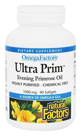 Natural Factors - Ultra Prim OmegaFactors Evening Primrose Oil 1000 mg. - 90 Softgels