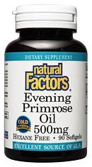 DROPPED: Natural Factors - Evening Primrose Oil 500 mg. - 90 Softgels