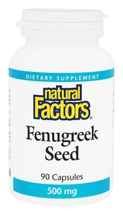 DROPPED: Natural Factors - Fenugreek Seed 500 mg. - 90 Capsules CLEARANCE PRICED