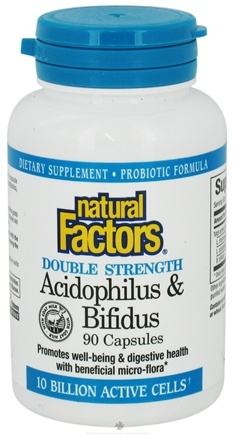 DROPPED: Natural Factors - Acidophilus & Bifidus with Goat Milk Double Strength - 90 Capsules
