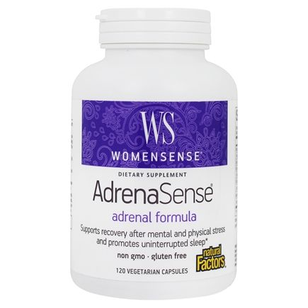 Natural Factors - WomenSense AdrenaSense Anti-Stress Adrenal Formula - 120 Vegetarian Capsules