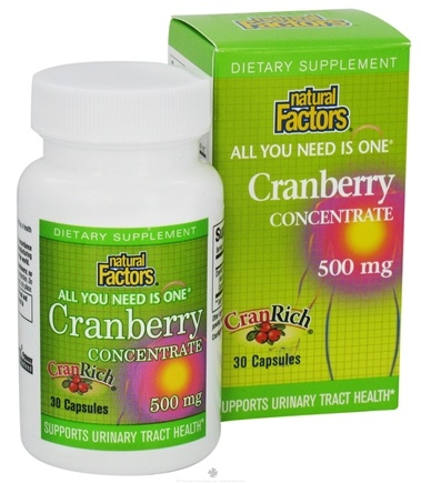 DROPPED: Natural Factors - CranRich All You Need Is One Cranberry Concentrate 500 mg. - 30 Capsules CLEARANCE PRICED