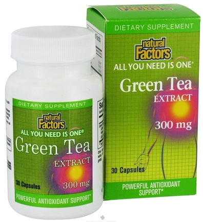 DROPPED: Natural Factors - All You Need Is One Green Tea Extract 300 mg. - 30 Capsules CLEARANCE PRICED