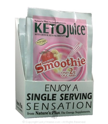 DROPPED: Nature's Plus - KetoJuice Smoothie Single Serving Strawberry Banana - 1 Packet(s)