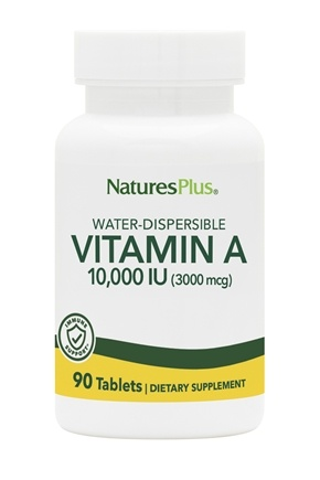 Nature's Plus - Vitamin A Water Dispersible 10000 IU - 90 Tablets