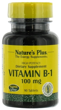 DROPPED: Nature's Plus - Vitamin B-1 100 mg. - 90 Tablets