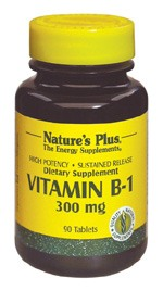 DROPPED: Nature's Plus - Vitamin B-1 Sustained Release 300 mg. - 90 Tablets