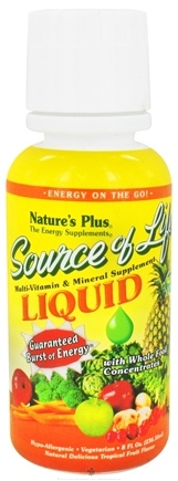 DROPPED: Nature's Plus - Liquid Source Of Life Tropical Fruit - 8 oz. CLEARANCE PRICED