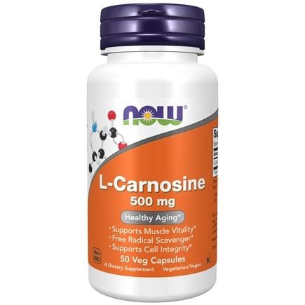 DROPPED: NOW Foods - Carnosine 500 mg. - 50 Vegetarian Capsules