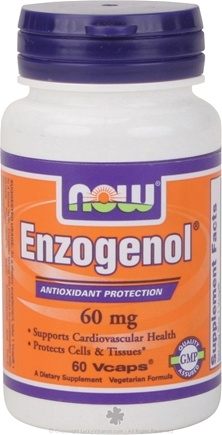 DROPPED: NOW Foods - Enzogeno 60 mg. - 60 Vegetarian Capsules