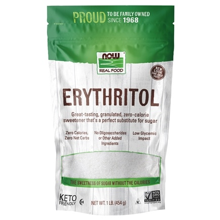 NOW Foods - Erythritol Natural Sweetener - 1 lb.