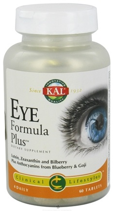 DROPPED: Kal - Eye Formula Plus - 60 Tablets CLEARANCE PRICED
