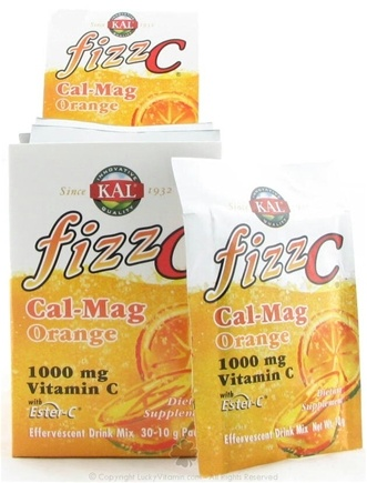 DROPPED: Kal - Fizz C Calcium Magnesium Effervescent Drink Mix Orange - 10 Grams